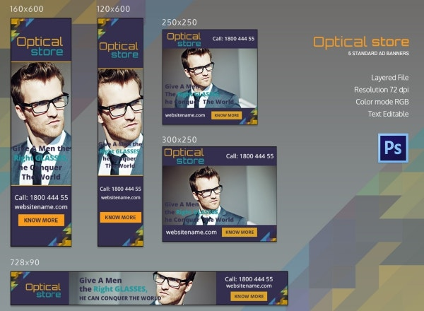 Optical Store Ad Banners