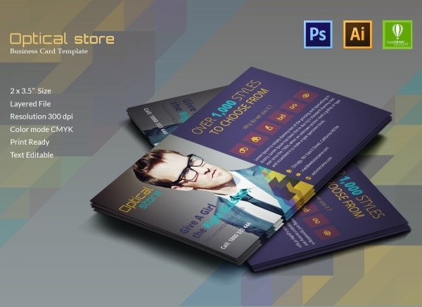 Optical Store Business Card
