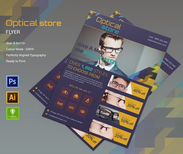 Optical Store Flyer