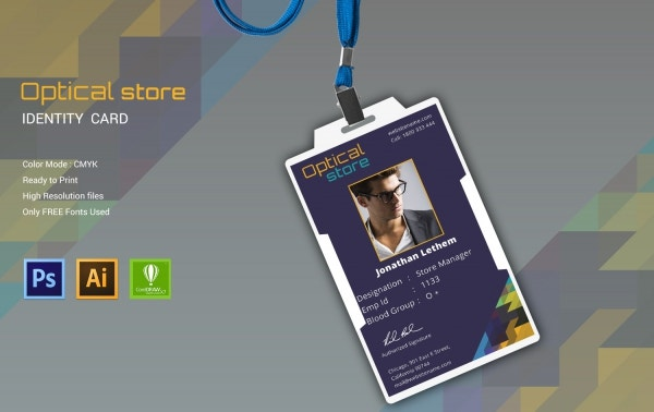 Optical Store Id Card