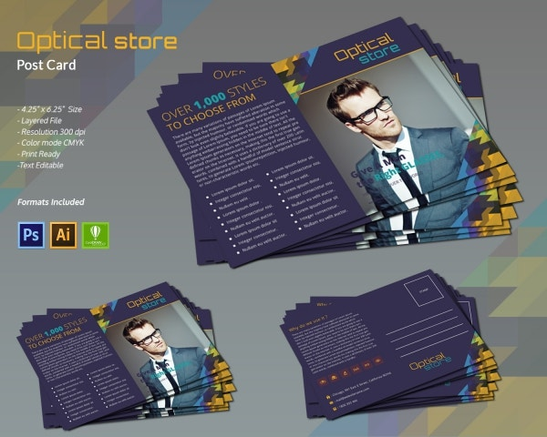 Optical Store Postcard