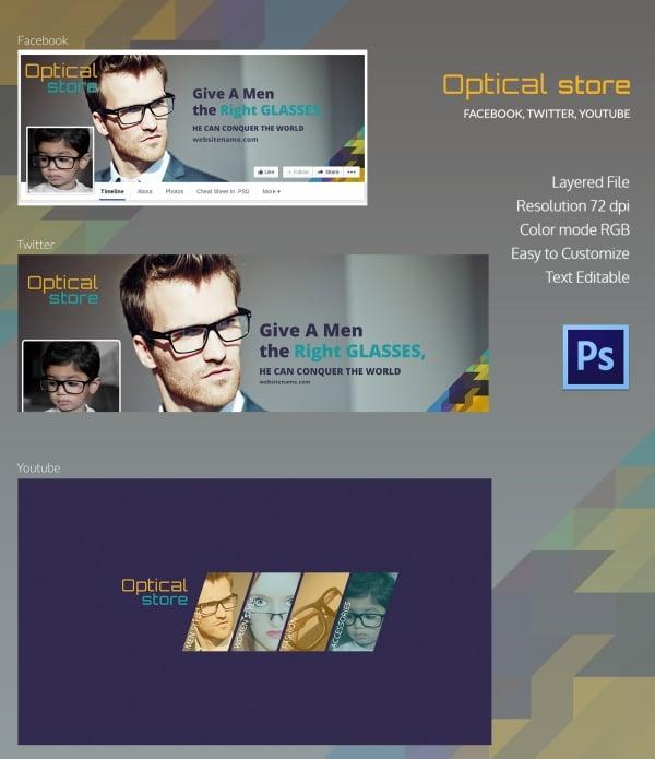 optical store social media