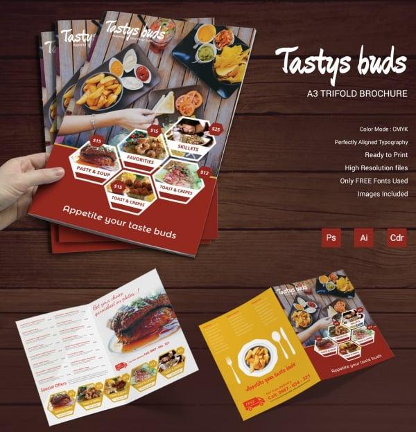 restaurant buds bifold brochure