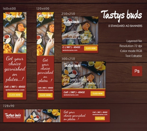 Restaurant Buds Ad Banners