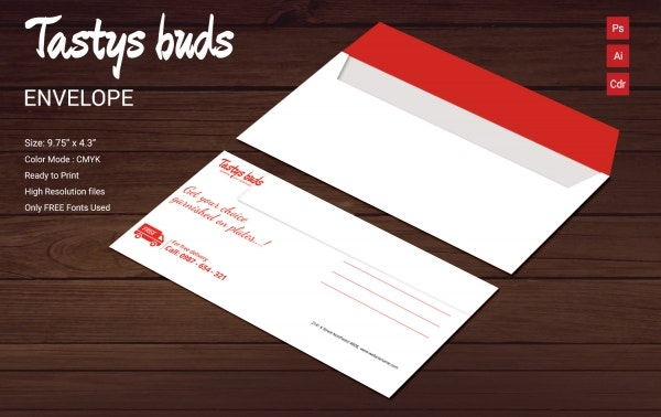 restaurant buds envelope
