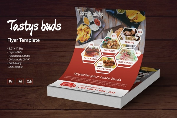 restaurant buds flyer
