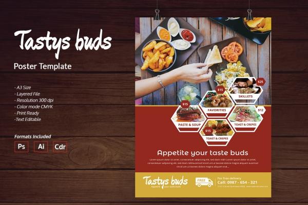 restaurant buds poster