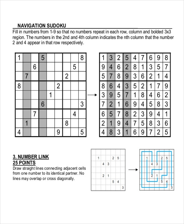 Sample Navigation Sudoku Template