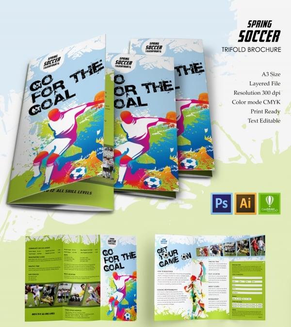 Spring Soccer Tri-fold Brochure