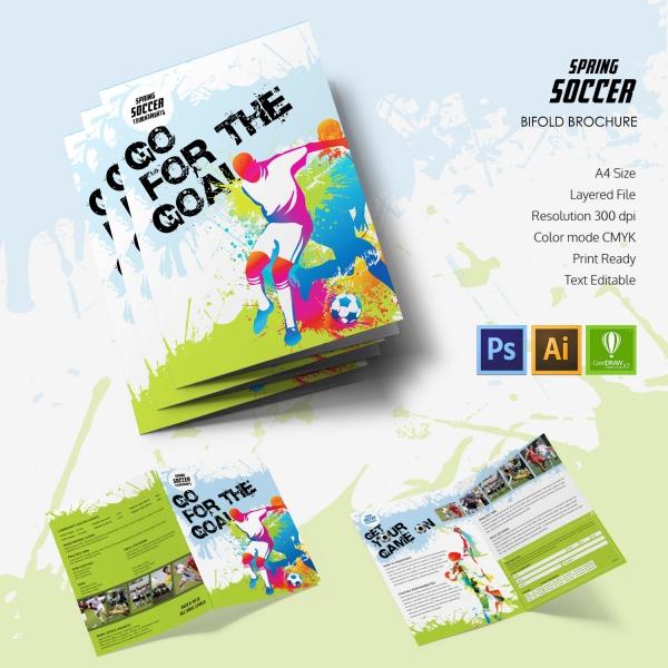 Spring Soccer Bi-fold Brochure