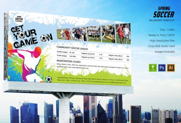 Spring Soccer Billboard