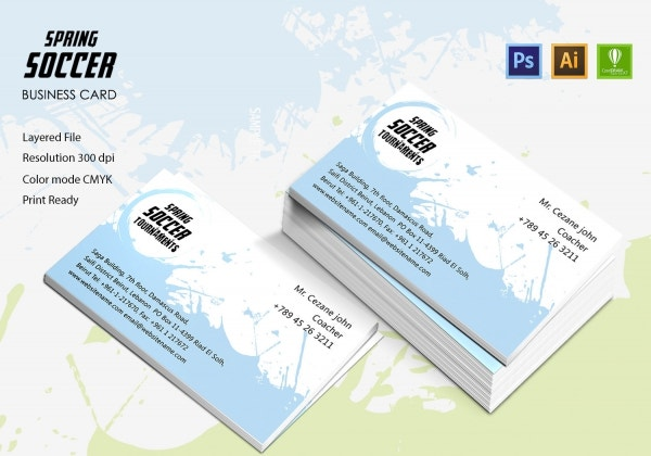 Spring Soccer Business Card