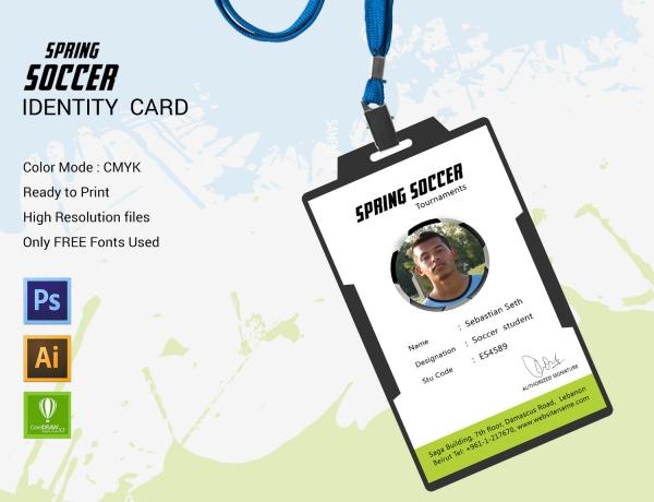 Spring Soccer Identity Card