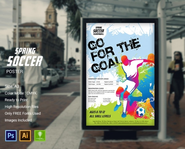 Spring Soccer Poster