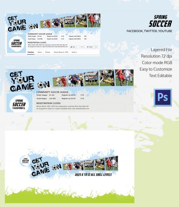 Spring Soccer Social Media Cover Page