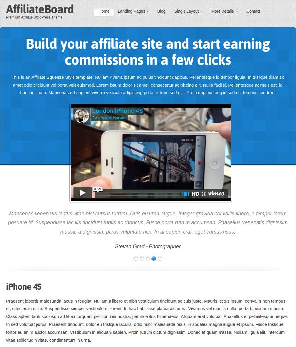 WordPress Affiliate Business Theme