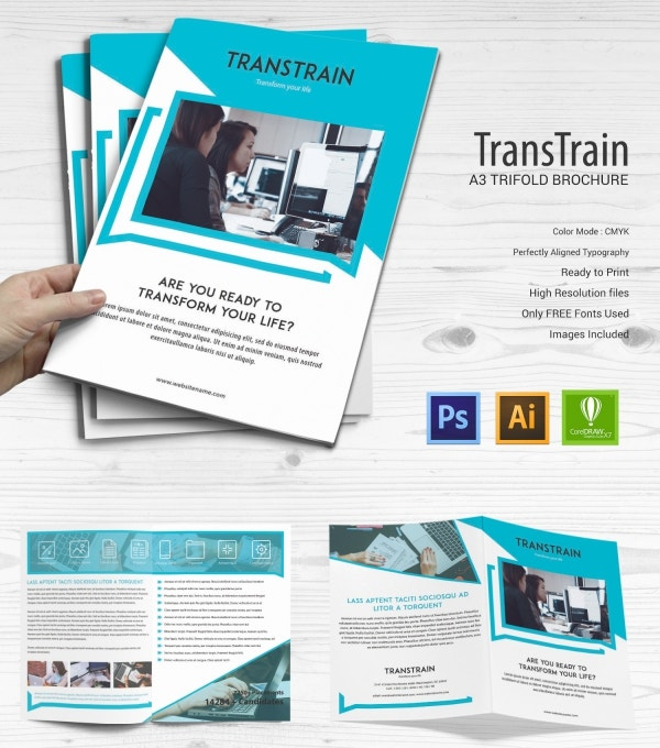 15 training institute templates psd eps ai cdr for Training brochure template