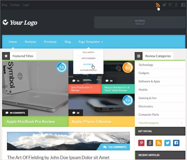 Free Affiliate Marketing WordPress Theme