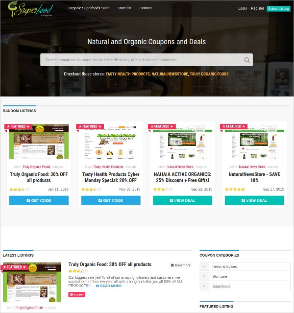 Responsive Coupon Theme $42