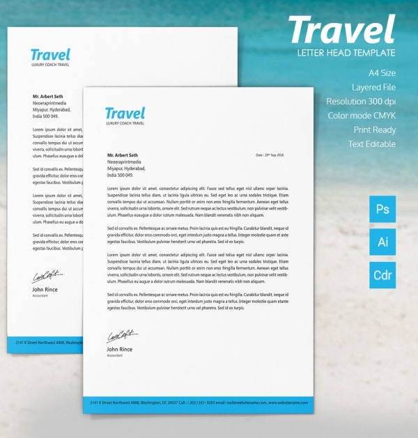 Travel letterhead