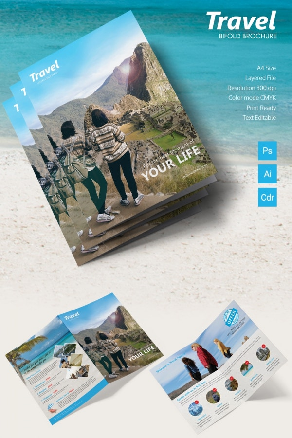 travel bi fold brochure
