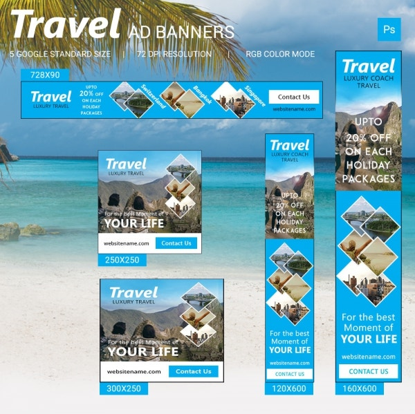 Travel ad banners
