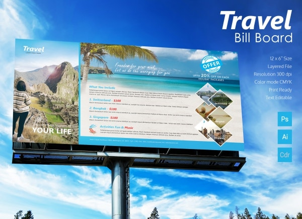 Travel billboard