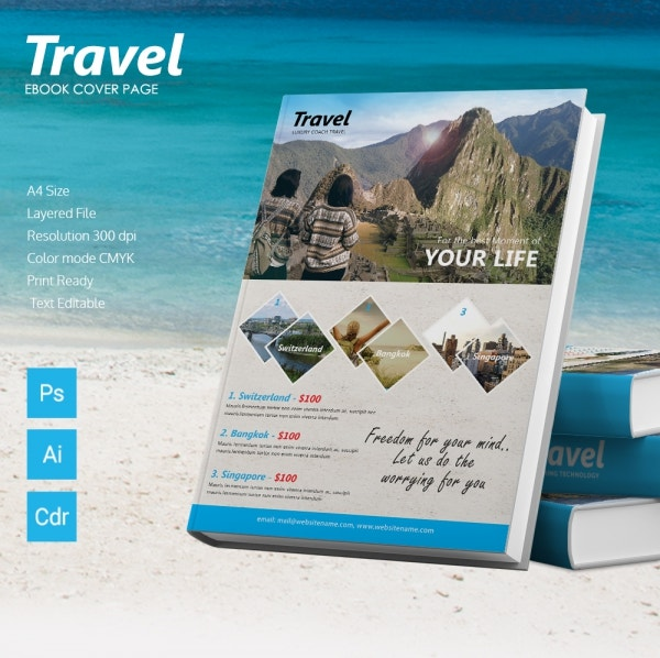 travel ebook cover page