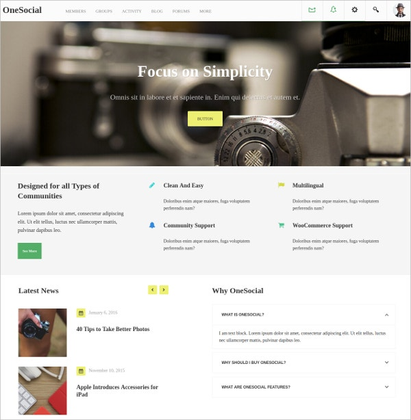 responsive forum wordpress theme