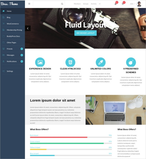 buddypress forum wordpress theme