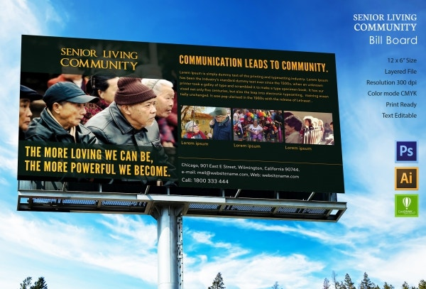 senior living community billboard