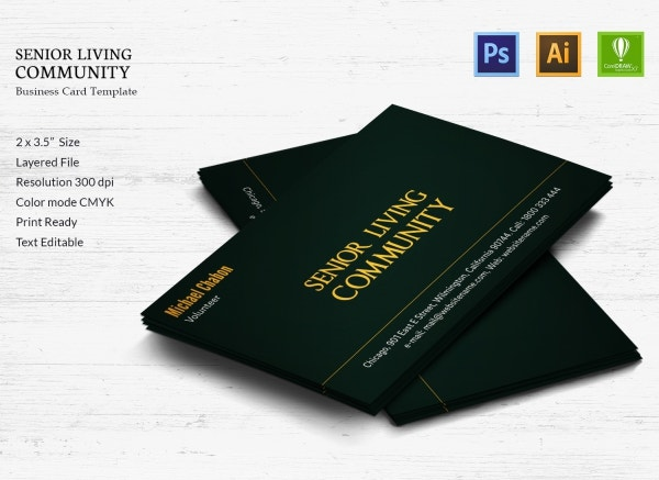 senior living community business card