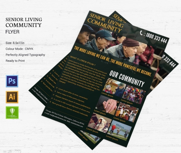 senior living community flyer