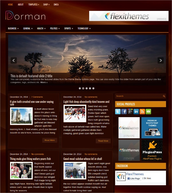 simple free 3 column wordpress theme