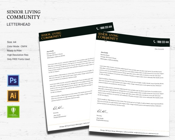 senior living community letterhead