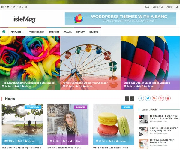 free 3 column fashion news magazine wordpress theme