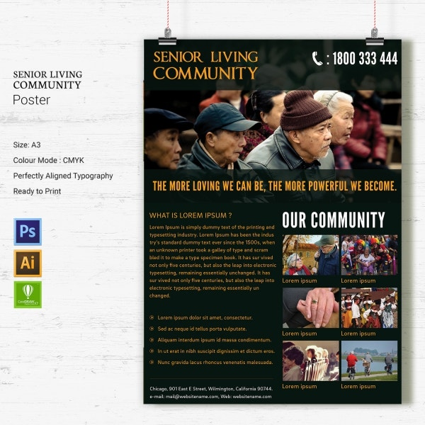 Senior Living Community Poster