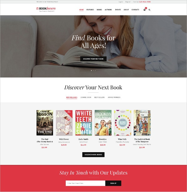 house book store wordpress theme