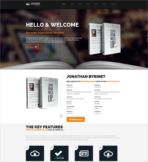 WordPress Theme for WP Theme for Book Authors