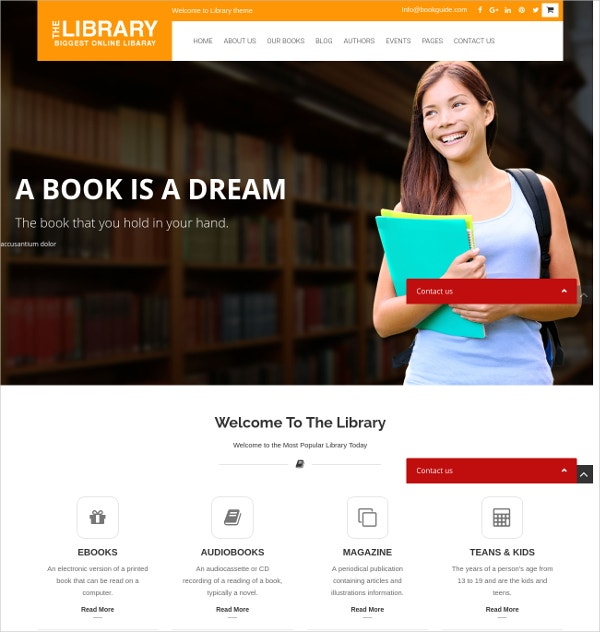 book store e commerce wordpress theme