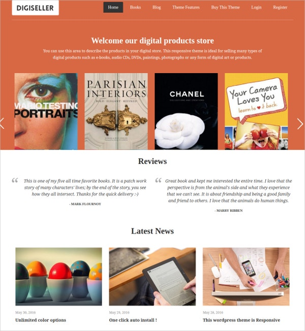 ebook premium wordpress theme