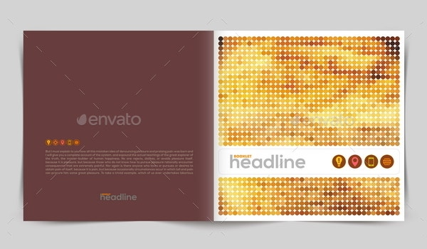 Vector Template Booklet Design  Booklet Template