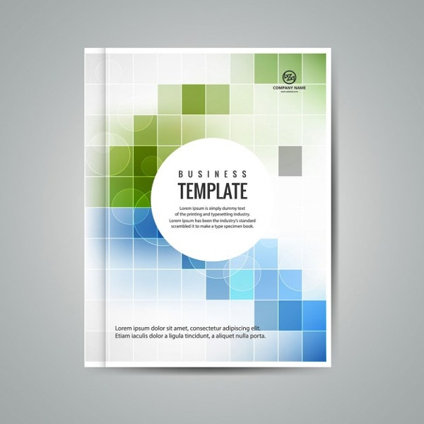 Superior Colorful Business Booklet With Squares Intended For Booklet Template