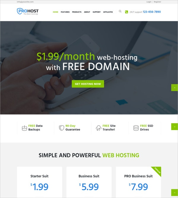 IT Services WordPress Theme $49