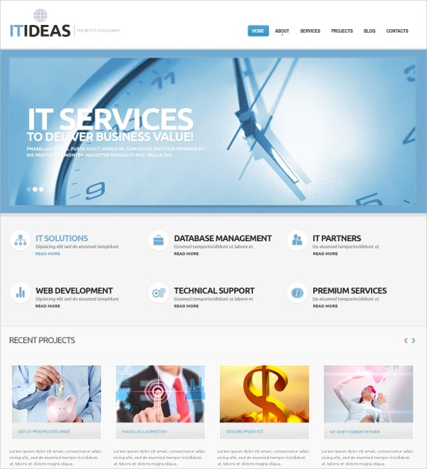 IT Consulting WordPress Theme $75