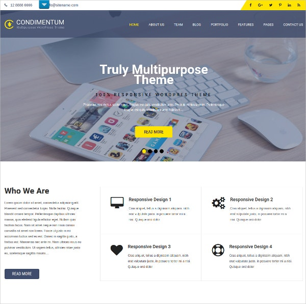 IT Support WordPress Theme $39