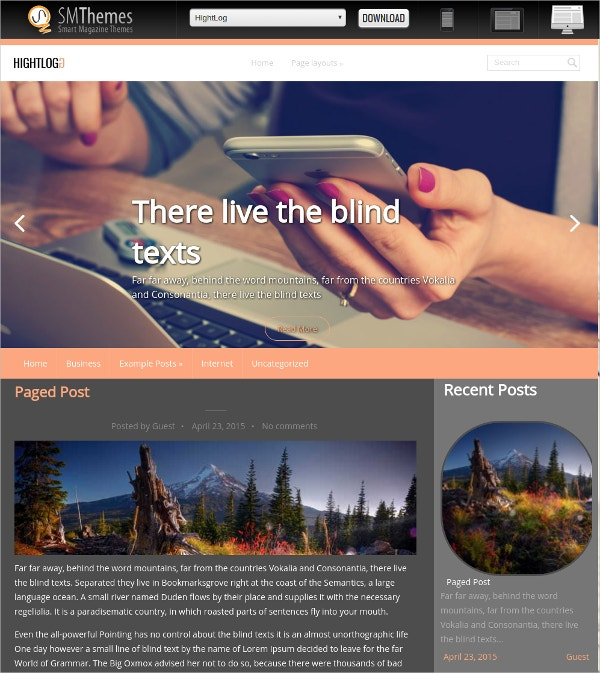 Free Professional IT Company WordPress Theme