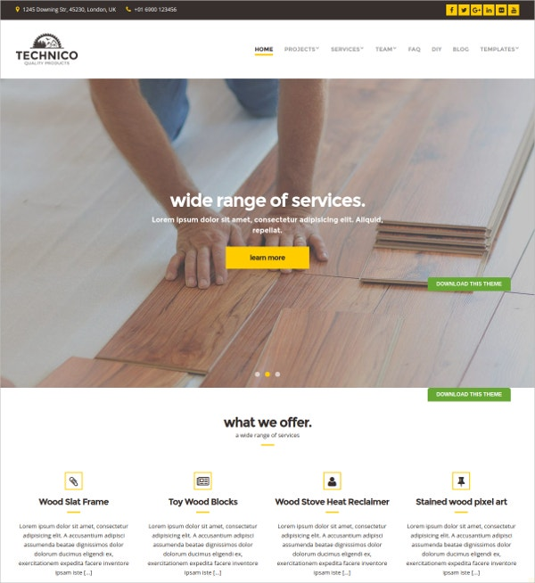 Premium Technical Industry WordPress Theme