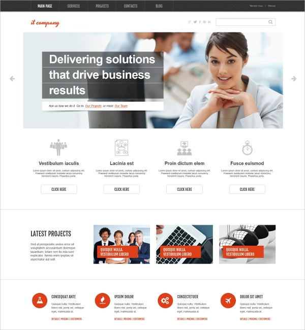 IT Business WordPress Theme $75