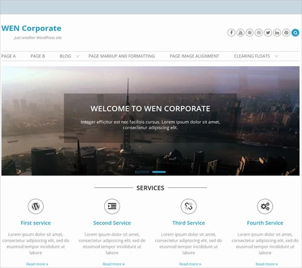 Free Simple IT WordPress Theme
